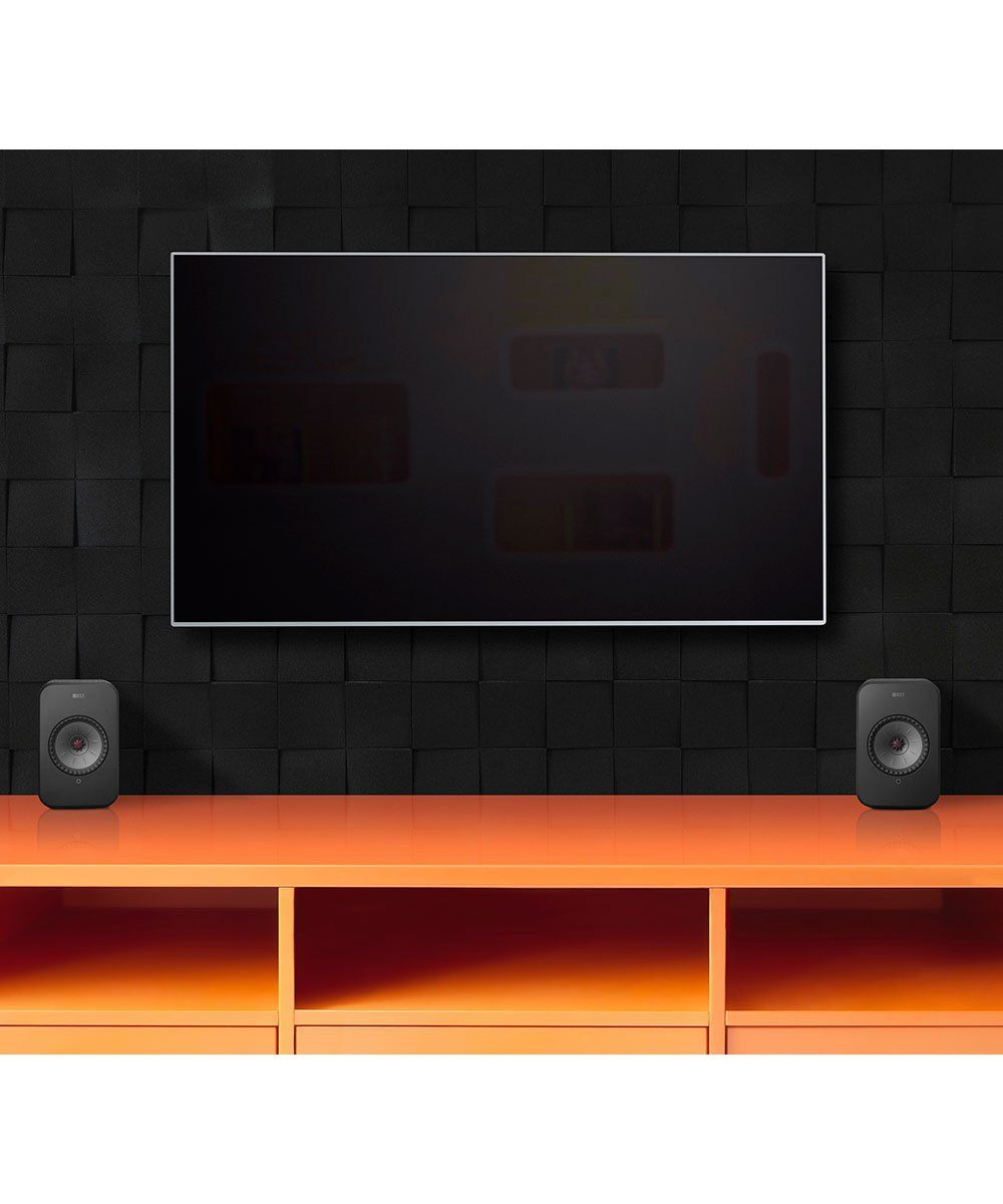 KEF LSX Wireless Speakers, better than a sound bar for television and movies.