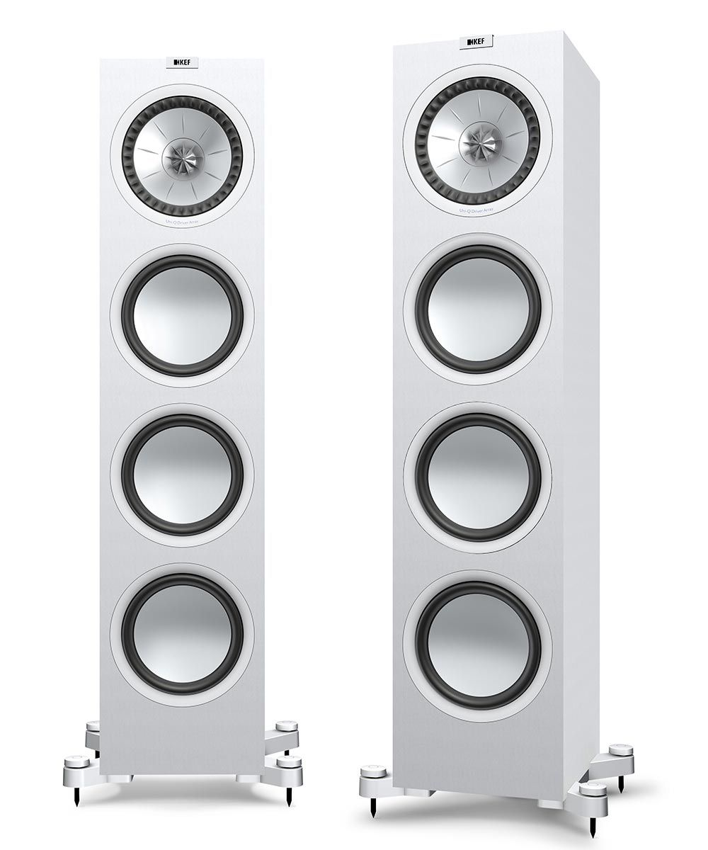 KEF Q950 Floorstanding Loudspeaker for stereo and home theater in White.