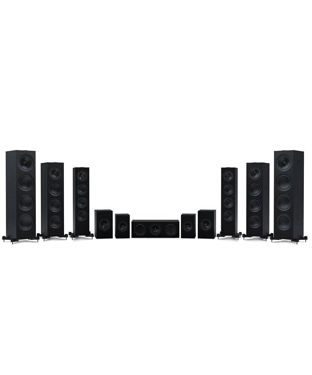Q Series Full Speaker Line in Black