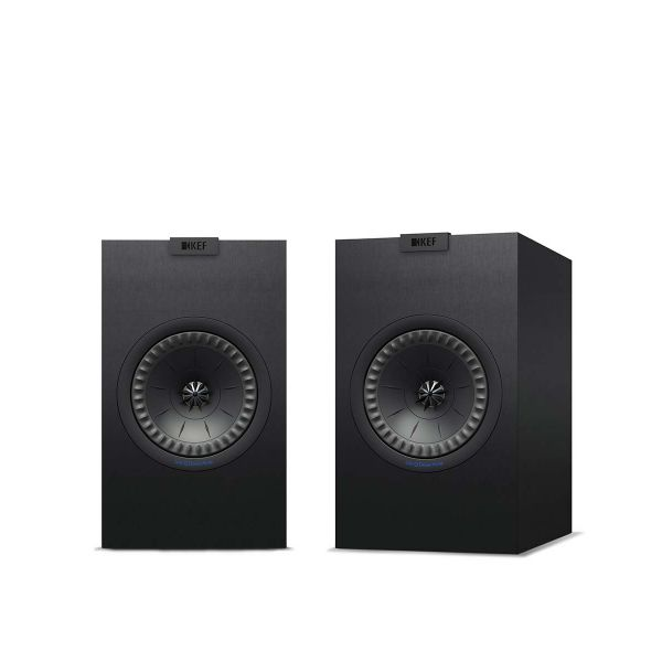 KEF Q150 Bookshelf Speaker pair in black.