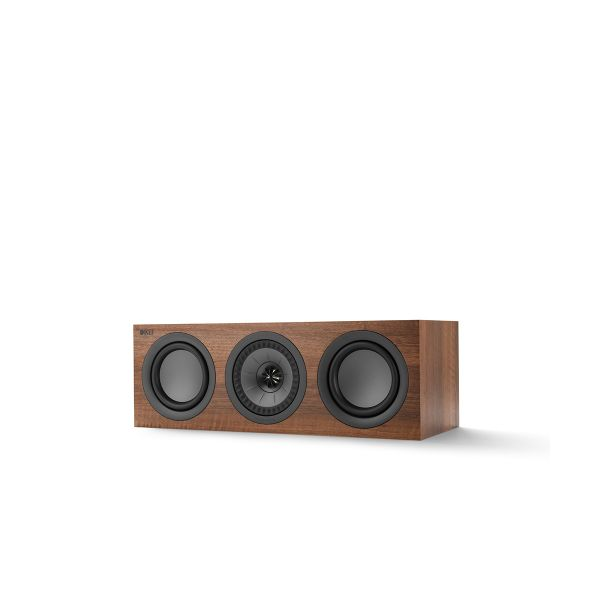 KEF Q SERIES Q250C Center Channel Speaker. Compact and versatile, use as a center channel or L/C/R configuration. Walnut Finish.