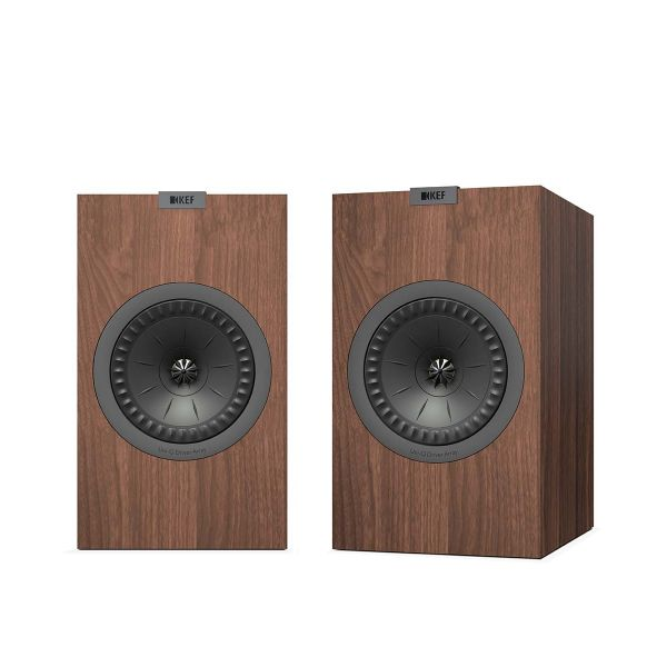 KEF Q350 Bookshelf loudspeaker, perfect for music or movies, in walnut.