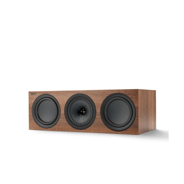 KEF Q Series Q650c center channel speaker in Walnut.
