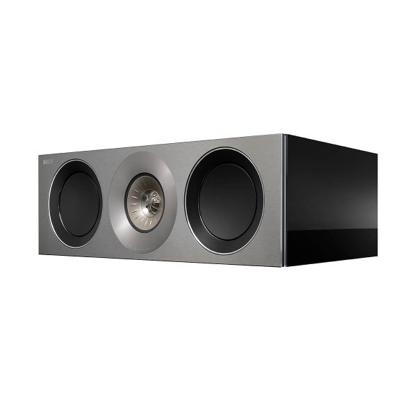 KEF Reference 2c center channel hifi speaker in high gloss black  | KEFDirect