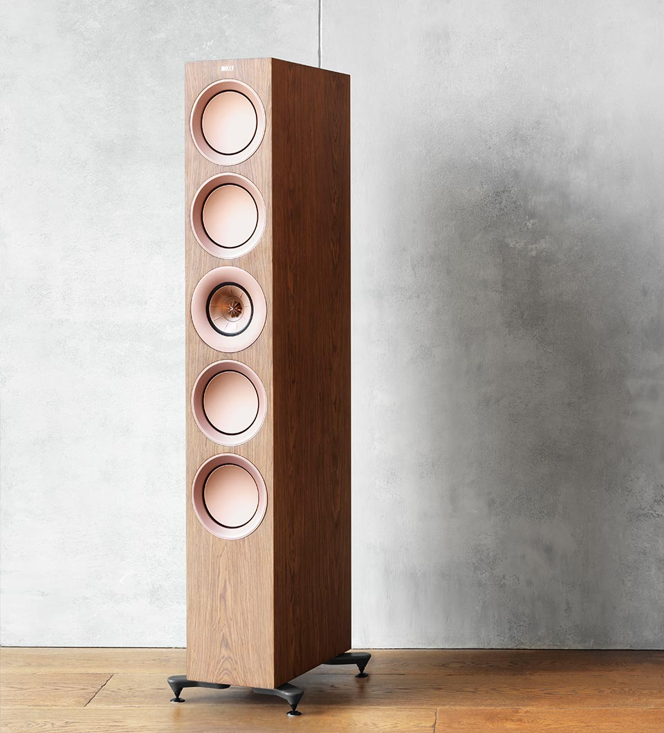 KEF R Series three way flagship floorstanding speaker