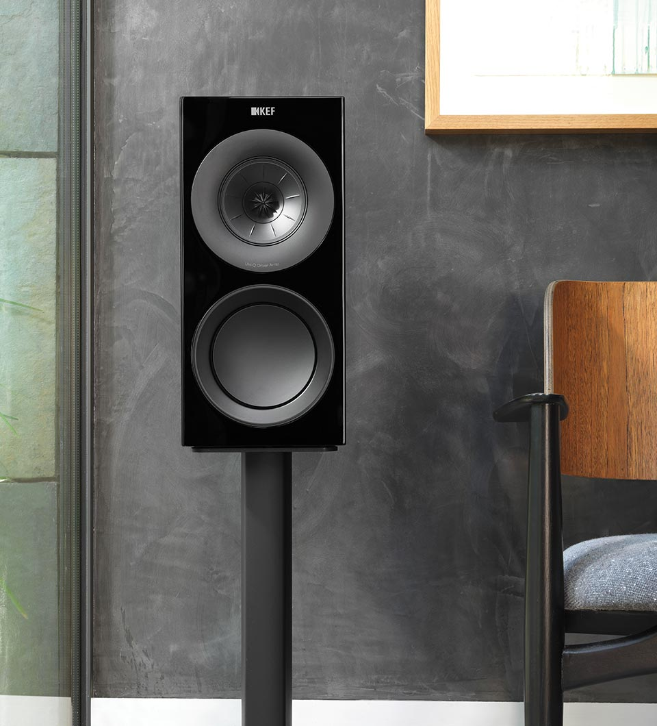 KEF R Series three way bookshelf or standmount speaker