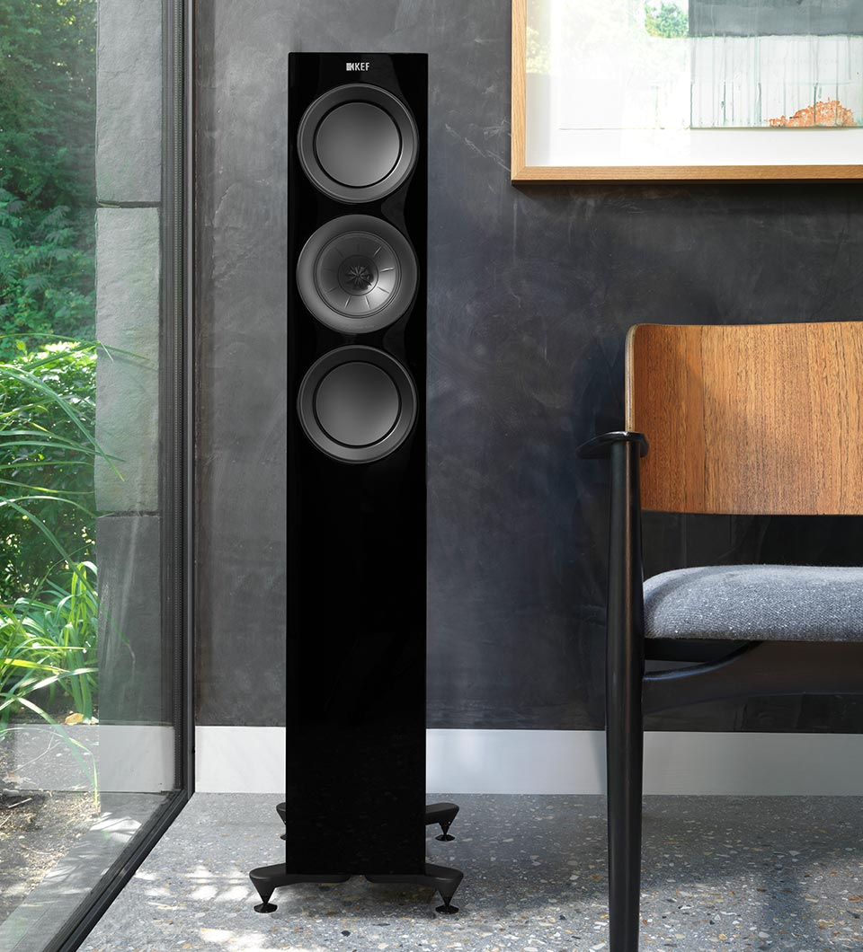 KEF R Series three way compact floorstanding speaker