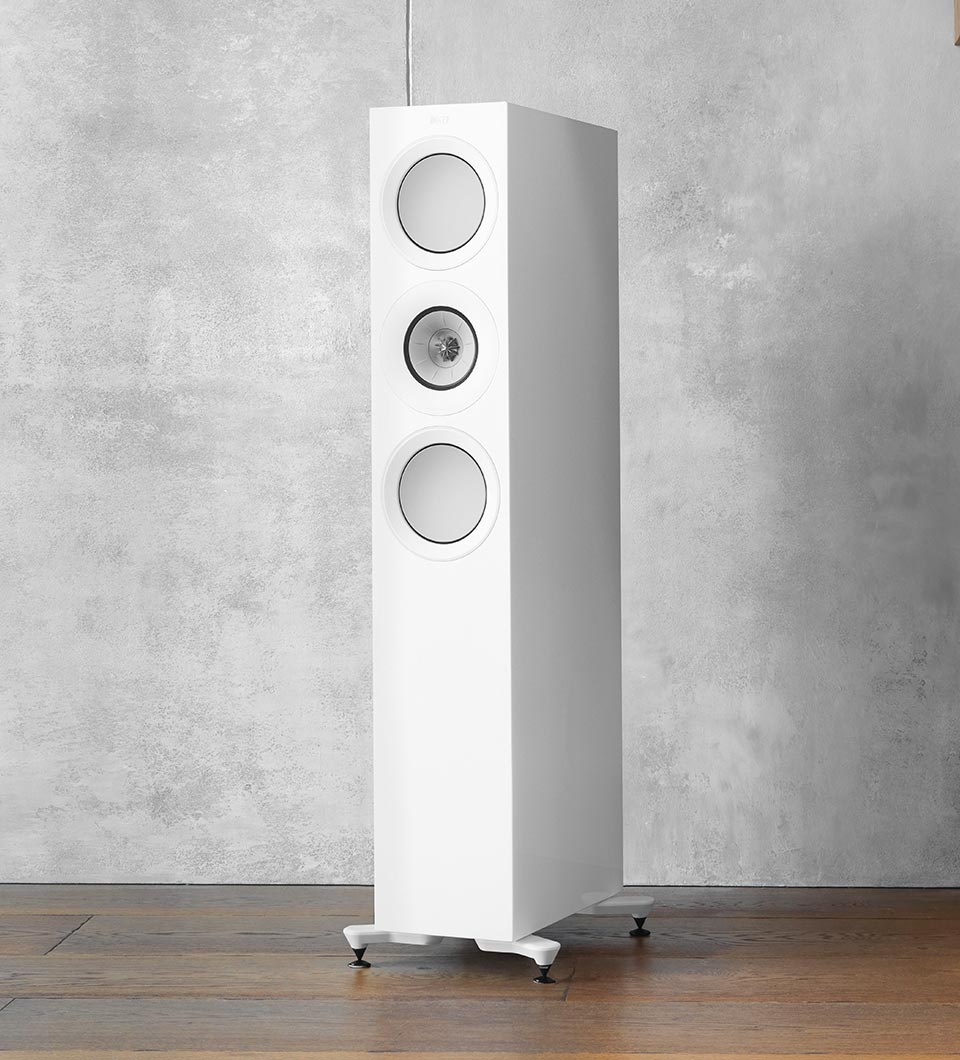 KEF R Series three way mid size floorstanding speaker