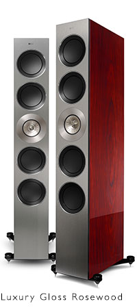 KEF REFERENCE Series speakers in real Gloss Rosewood.