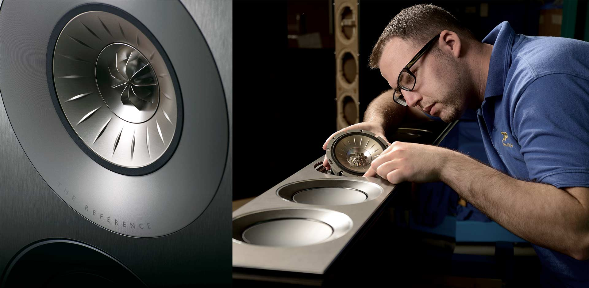 KEF Reference series speakers are hand made in the United Kingdom